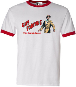 Vintage Black Heroes Men's T-Shirt - Guy Fortune - 1 - Red Ringer