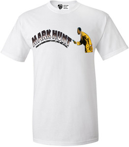 Vintage Black Heroes Men's T-Shirt - Mark Hunt 1 - White