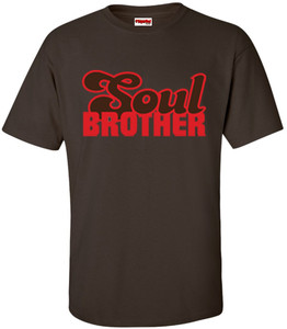 SuperBad Soulware Men's T-Shirt - Soul Brother - Brown