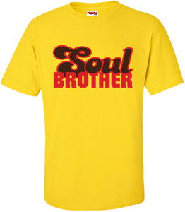SuperBad Soulware Men's T-Shirt - Soul Brother - Yellow