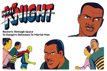 Vintage Black Heroes Sticker Sheet - Neil Knight - 1