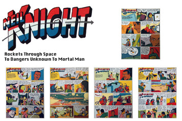 Vintage Black Heroes Sticker Sheet - Neil Knight - Comic 1