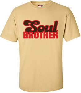 SuperBad Soulware Men's T-Shirt - Soul Brother - Vegas Gold