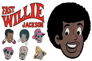 Fast Willie Jackson Sticker Sheet - 2