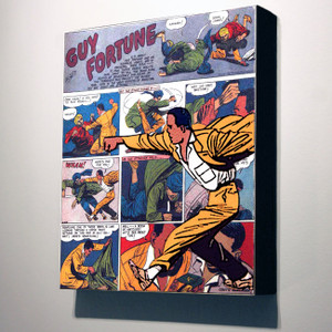 Vintage Black Heroes 32x24 Canvas - Guy Fortune - 2a