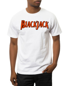 Vintage Black Heroes Men's T-Shirt - BlackJack - Logo 3 - White
