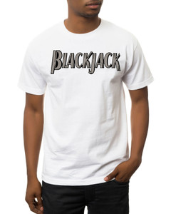Vintage Black Heroes Men's T-Shirt - BlackJack - Logo 4 - White