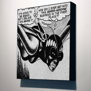 Vintage Black Heroines 10x8 Canvas - The Butterfly - 3