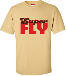 SuperBad Soulware Men's T-Shirt - Super Fly - Vegas Gold