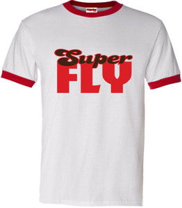 SuperBad Soulware Men's T-Shirt - Super Fly - Red Ringer