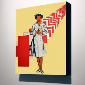 Afrotopia 32x24 Canvas - Vintage Nurse