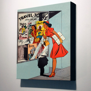 Afrotopia 24x20 Canvas - Vintage Travel Agency