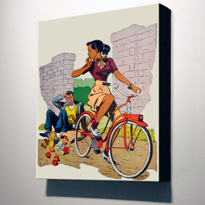Afrotopia 32x24 Canvas - Vintage Bicycle