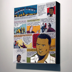 Vintage Black Heroes 32x24 Canvas - Mark Hunt - 11A