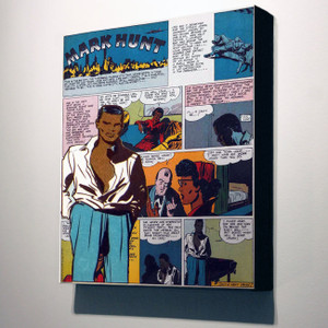 Vintage Black Heroes 32x24 Canvas - Mark Hunt - 6A