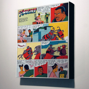 Vintage Black Heroes 32x24 Canvas - Neil Knight - 1