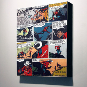 Vintage Black Heroes 32x24 Canvas - The Chisholm Kid - 1
