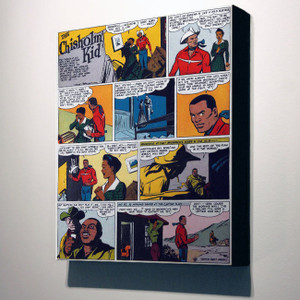 Vintage Black Heroes 32x24 Canvas - The Chisholm Kid - 2