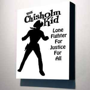 Vintage Black Heroes 10x8 Canvas - The Chisholm Kid Silhouette