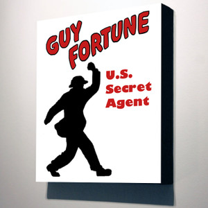 Vintage Black Heroes 10x8 Canvas - Guy Fortune Silhouette
