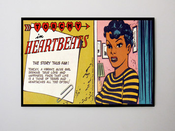 Vintage Black Heroines 12x14 Canvas - Torchy In Heartbeats - 3A