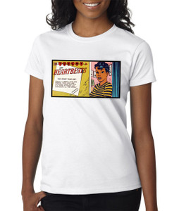 Vintage Black Heroines Women's T-Shirt - Torchy In Heartbeats - 3A - White