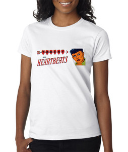 Vintage Black Heroines Women's T-Shirt - Torchy In Heartbeats - 2A - White