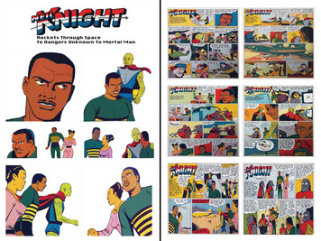 Vintage Black Heroes Sticker Sheet Set - Neil Knight - 1