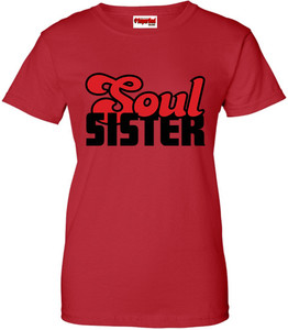 SuperBad Soulware Women's T-Shirt - Soul Sister - Red - BR