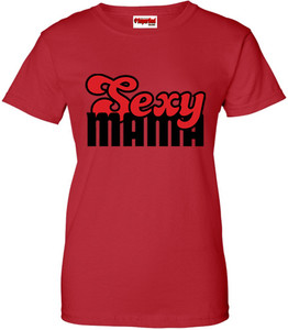 SuperBad Soulware Women's T-Shirt - Sexy Mama - Red - BR