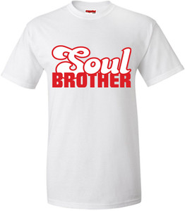 SuperBad Soulware Men's T-Shirt - Soul Brother - White - RW