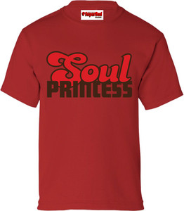 SuperBad Soulware Girls T-Shirt - Soul Princess - Red - BRR