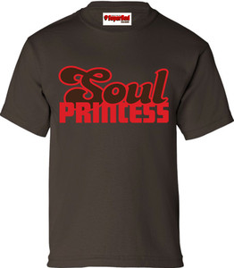 SuperBad Soulware Girls T-Shirt - Soul Princess - Brown - RBR