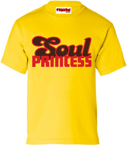 SuperBad Soulware Girls T-Shirt - Soul Princess - Yellow - RBR