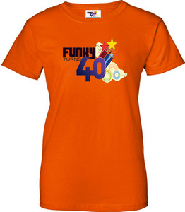 Funky Turns 40 Women's T-Shirt - Orange