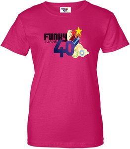 Funky Turns 40 Women's T-Shirt - Dark Pink