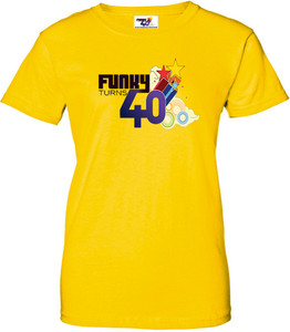 Funky Turns 40 Women's T-Shirt - Yellow