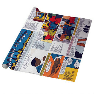 Vintage Black Heroes Wrapping Paper Sheets - Mark Hunt - CST7 - Package Of 5
