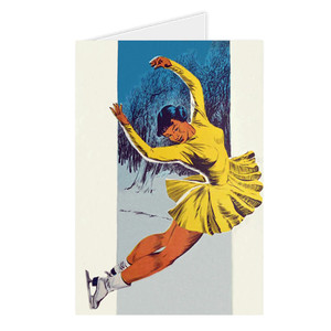 Afrotopia Greeting Cards - Vintage Skater - Package Of 10
