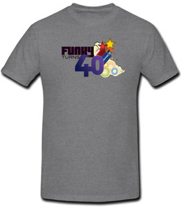 Funky Turns 40 Men's T-Shirt - Grey