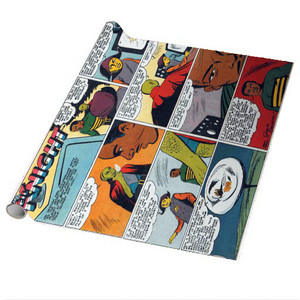 Vintage Black Heroes Wrapping Paper Sheets - Neil Knight - CST3 - Package Of 5