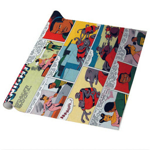 Vintage Black Heroes Wrapping Paper Sheets - Neil Knight - CST2 - Package Of 5