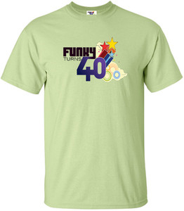 Funky Turns 40 Men's T-Shirt - Pistachio