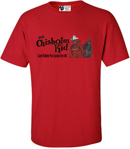 Vintage Black Heroes Men's T-Shirt - The Chisholm Kid - 2 - Red
