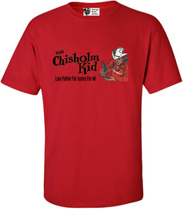 Vintage Black Heroes Men's T-Shirt - The Chisholm Kid - 5 - Red