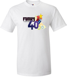 Funky Turns 40 Men's T-Shirt - White