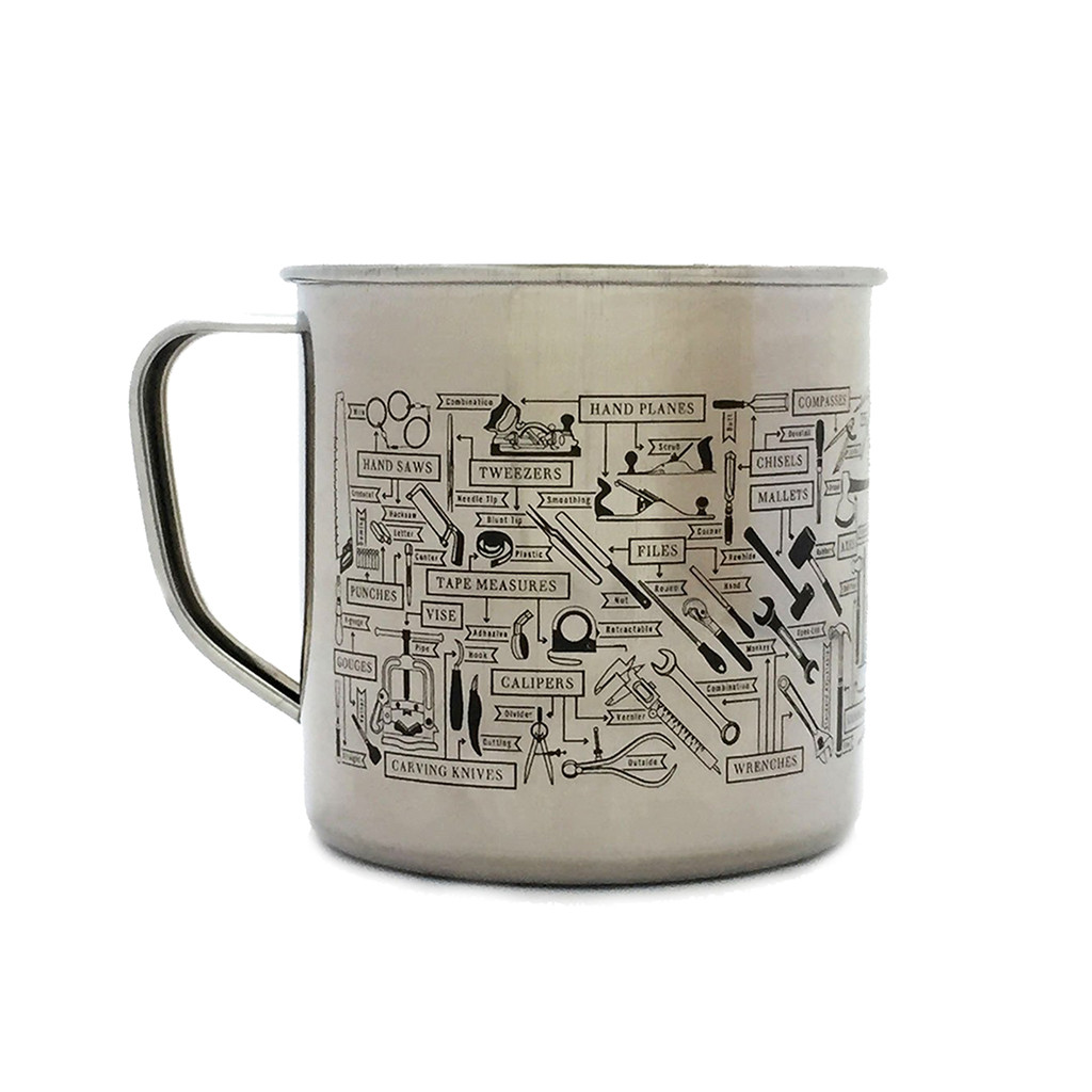 The Chart of Hand Tools Steel Mug