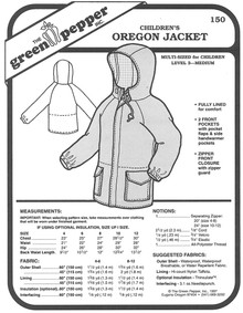 Sewing Pattern - Children's Oregon Jacket, Jacket Pattern for Children by Green Pepper Patterns
