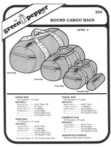 Sewing Pattern - Round Cargo Bag Pattern, Duffel Bag Pattern, Green Pepper Patterns