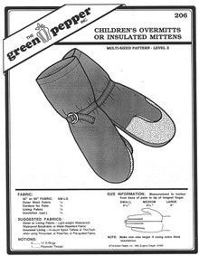 Sewing Pattern - Children's Polar Fleece Mittens or Overmitt Pattern